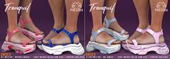 "Phedora for Kustom9 - ""Tranquil"" UNISEX Sandals ♥"