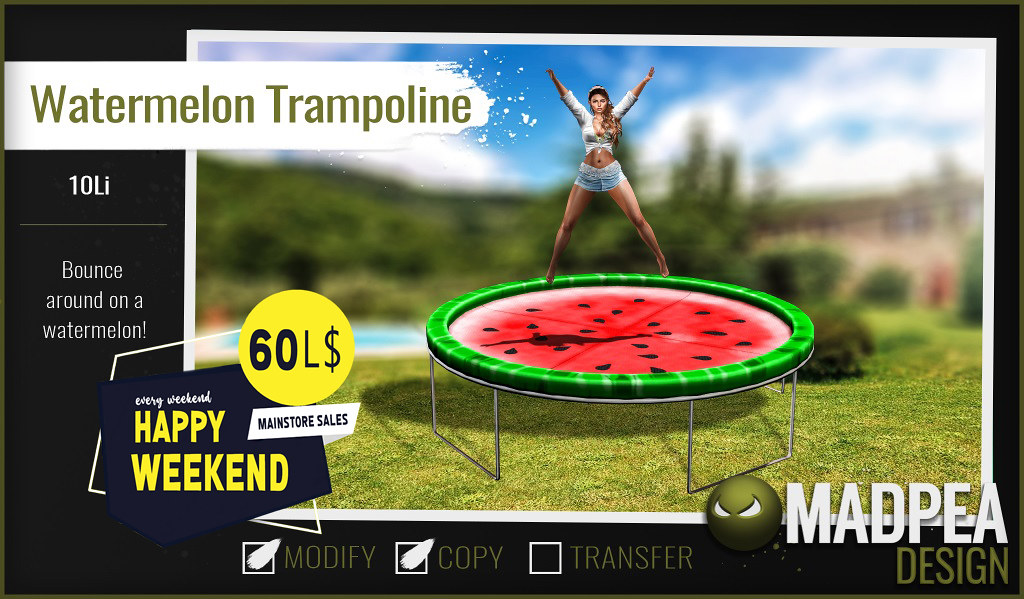 MadPea Watermelon Trampoline for Happy Weekend!