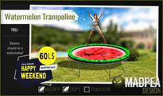 MadPea Watermelon Trampoline for Happy Weekend!