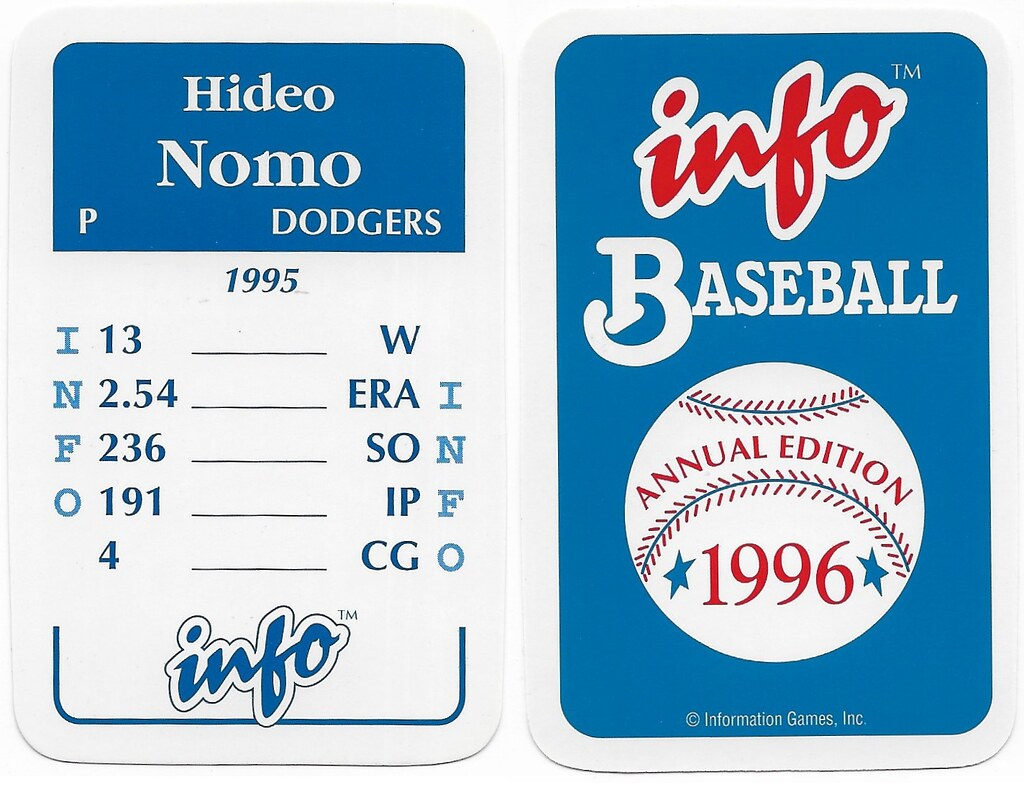 1996 Info Baseball Game Cards - Nomo, Hideo