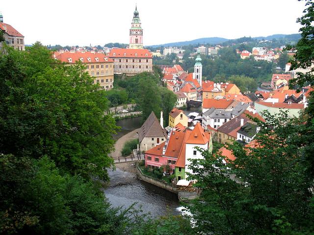 CESKY KRUMLOV,  zamek  a mesto, Bohemia    IMG_0019