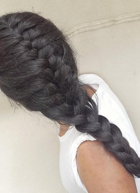 French braid Braided hair Hair braid Beautiful hairstyle Long braids Dutch braids