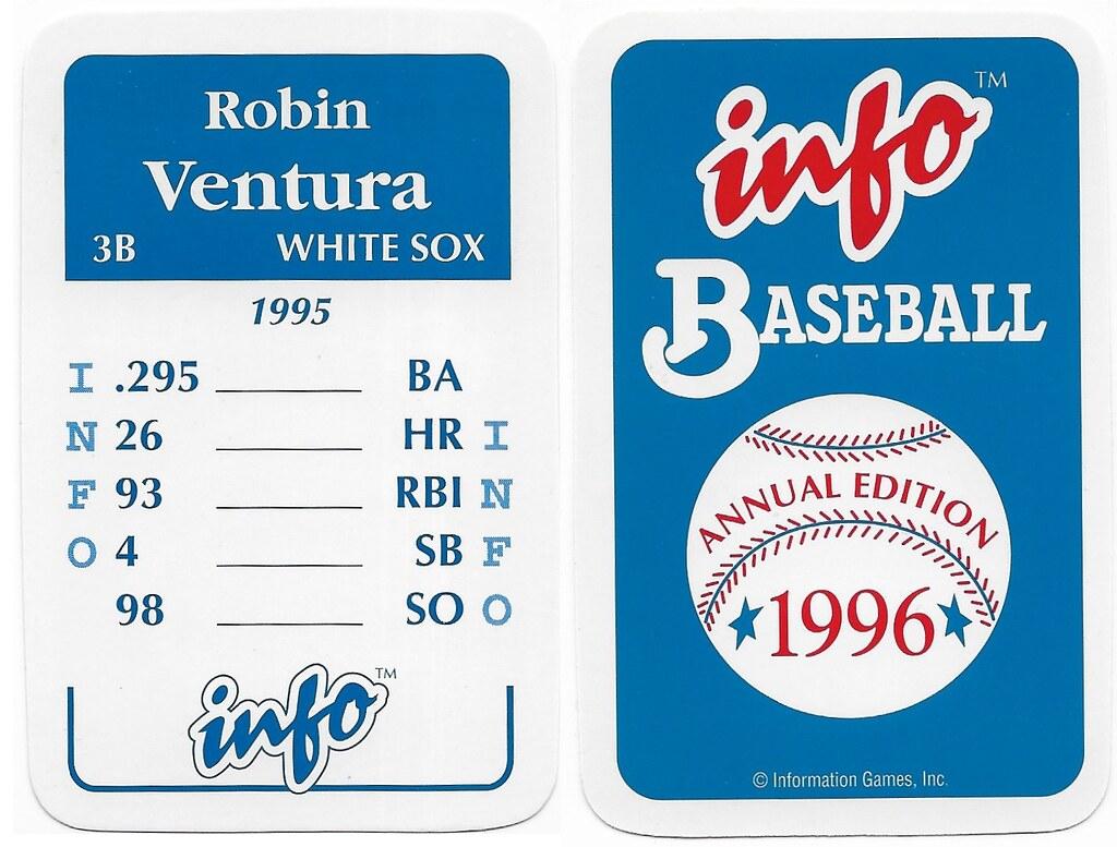 1996 Info Baseball Game Cards - Ventura, Robin