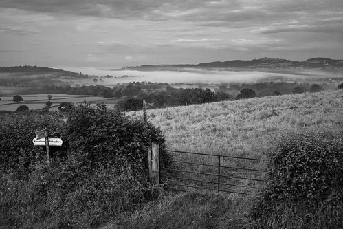 Misty Grey Valley (B&W) | by Phil Gyford