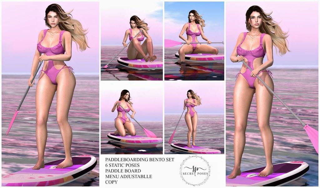 Secret Poses - Paddle Boarding @Shiny Shabby