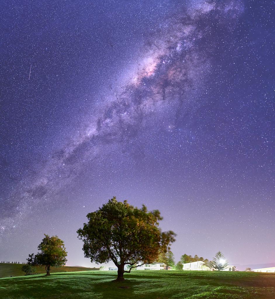 Under the galaxy