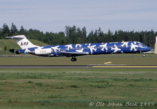 SAS MD-82 LN-RMD at ENGM/OSL 18-06-1999 | by Ole Johan Beck