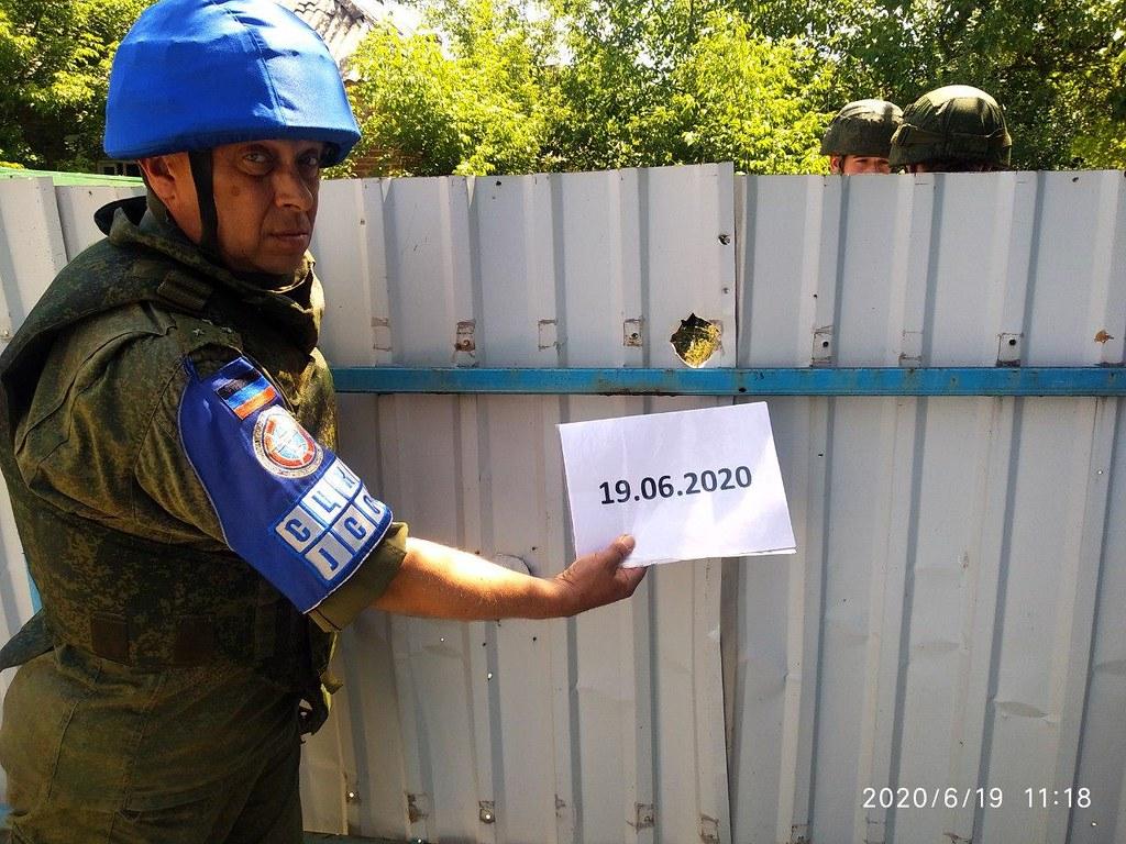 Palissade endommagée à Alexandrovka