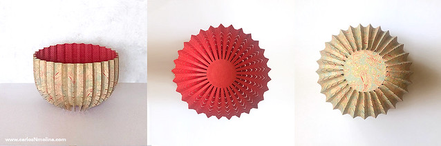 Paper Vessel - Red/Green