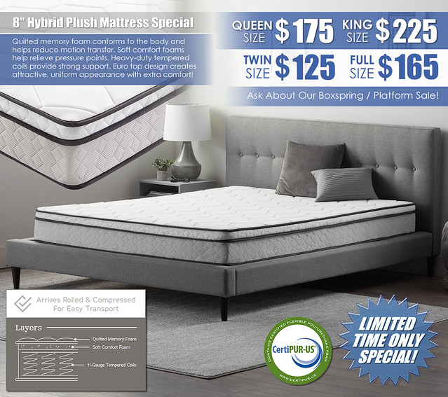 8in Hybrid Plush Mattress Special_2020