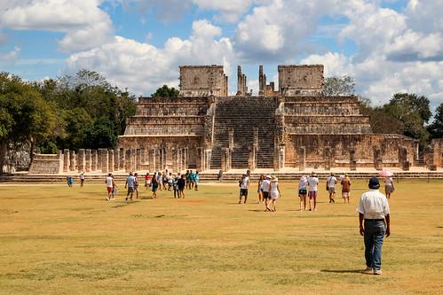 A large square platform called Tzompantli (Náhuatl), the Wall of Skulls., Chichen Itza, Mexico's Yucatán Peninsula