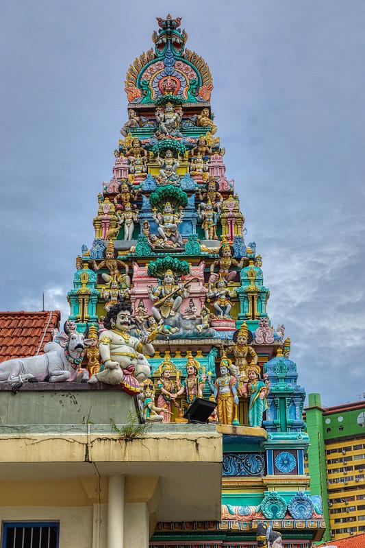 Sri Layan Sithi Vinayagar Temple on Keong Saik road in Chinatown in Singapore