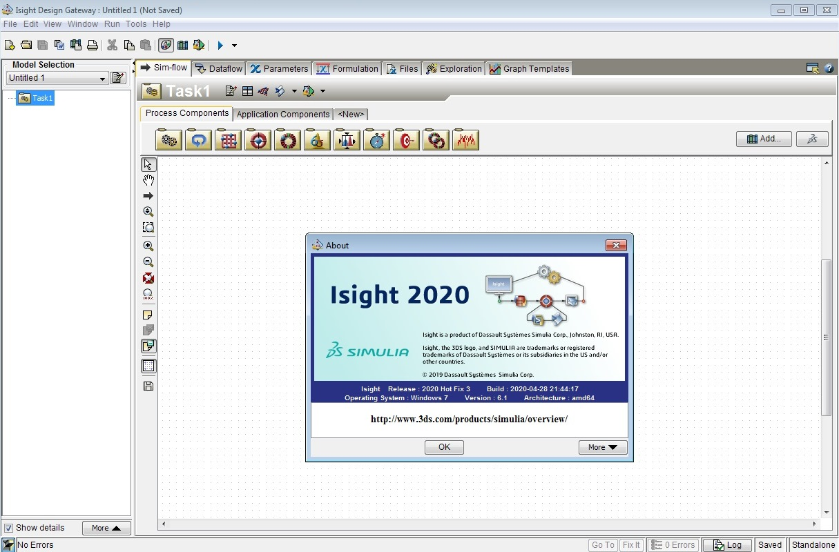 Working with DS SIMULIA Isight 2020 HF3 full license