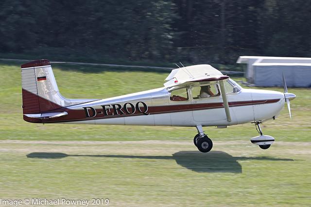 D-EROQ - 1958 build Cessna 172 Skyhawk, arriving at Hahnweide during OTT19