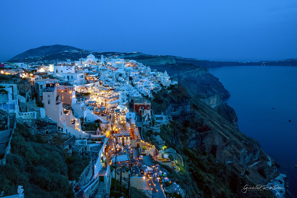 Thira at the blue hour