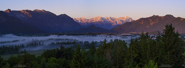 Early morning panorama at Murnauer Moos and Loisachtal N°2