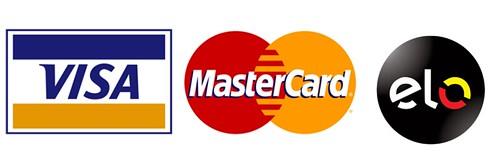 Aceitamos os cartões Visa Master e Elo