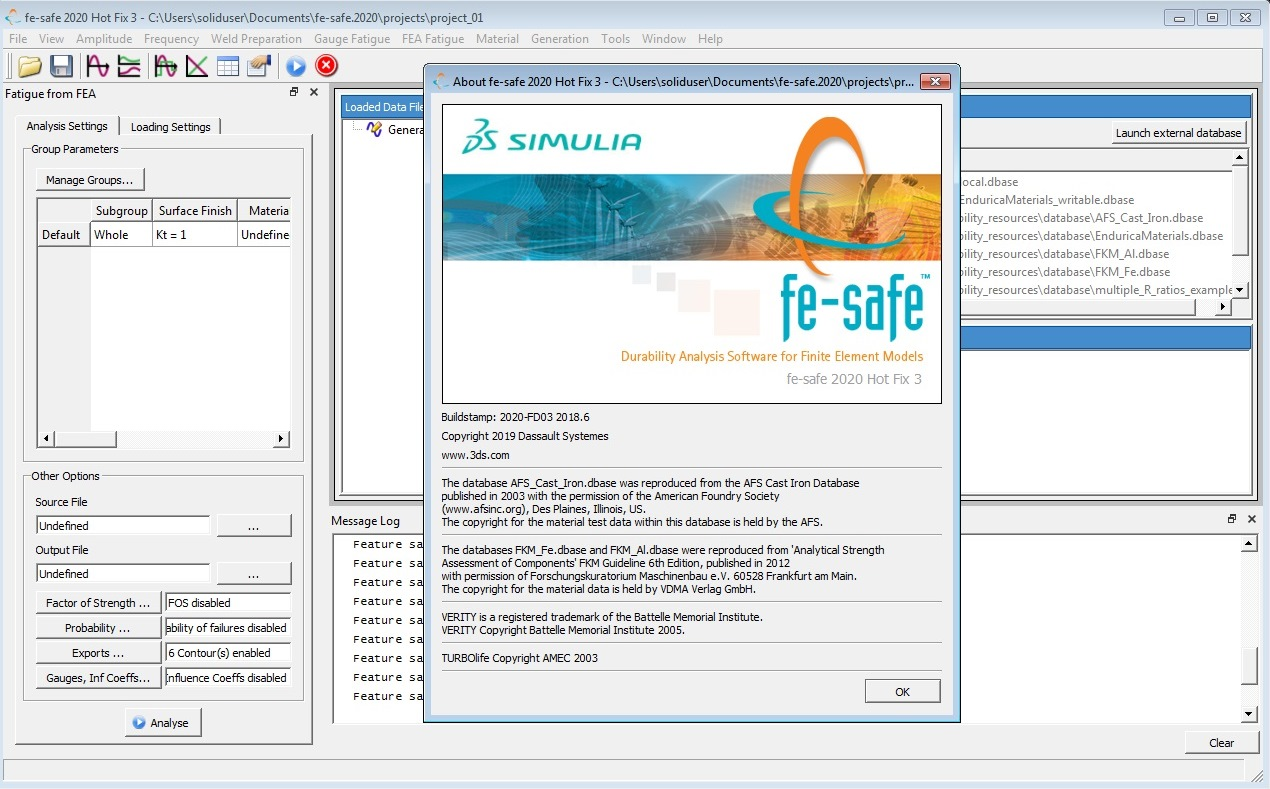 Working with DS SIMULIA FE-safe 2020 HF3 full license