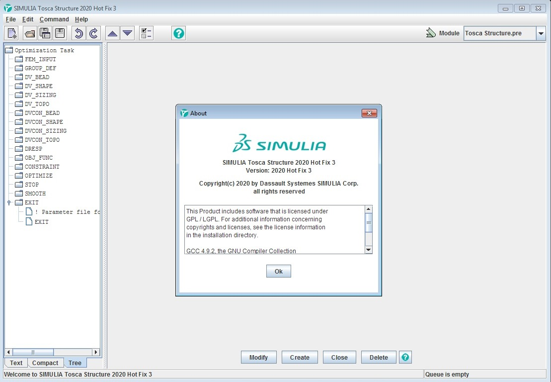 Working with DS SIMULIA Tosca (Fluid-Structure) 2020 HF3 full license