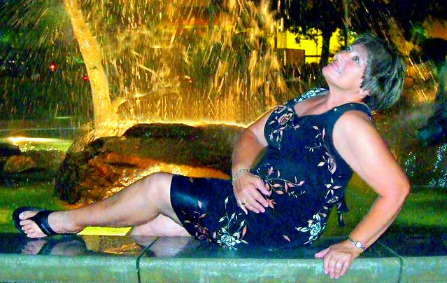 Fountain photo shoot, 2007