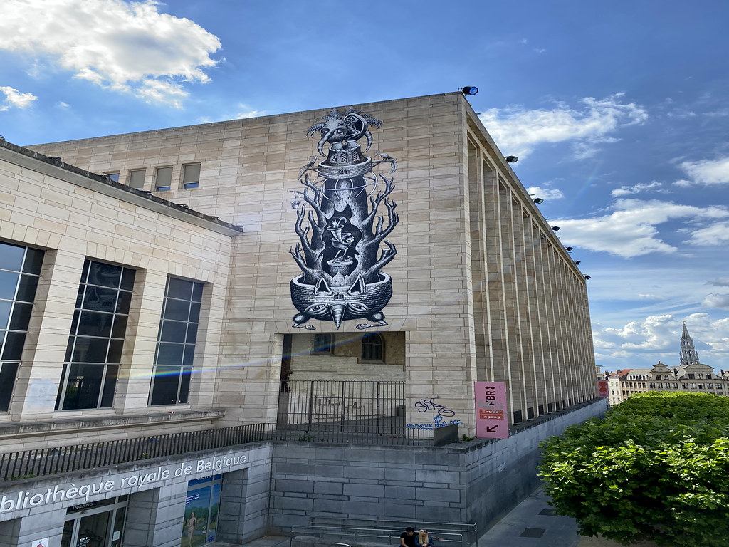 """Luxuria"" mural by Phlegm using a Bruegel theme"