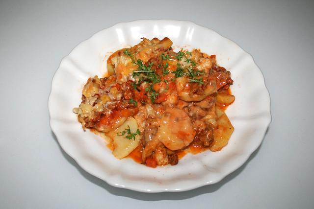 Cauliflower meat casserole - Leftovers I / Blumenkohl-Hack-Auflauf mit Kartoffeln - Resteverbrauch I
