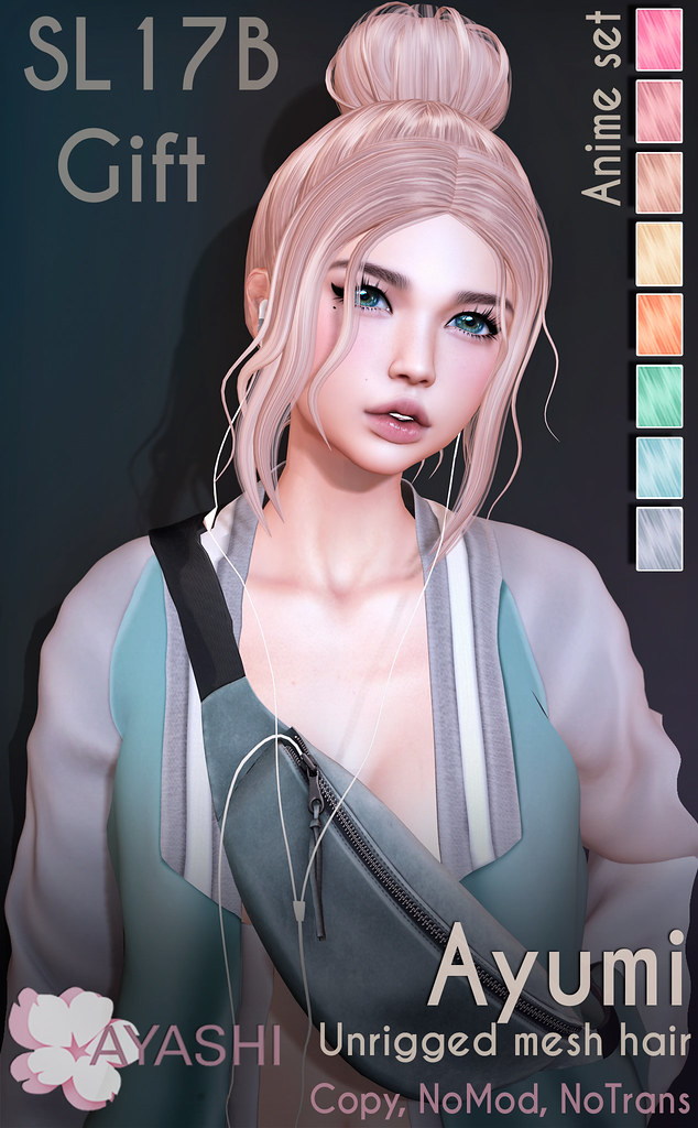 [^.^Ayashi^.^] Ayumi hair (GIFT) special for SL17B Shop and Hop
