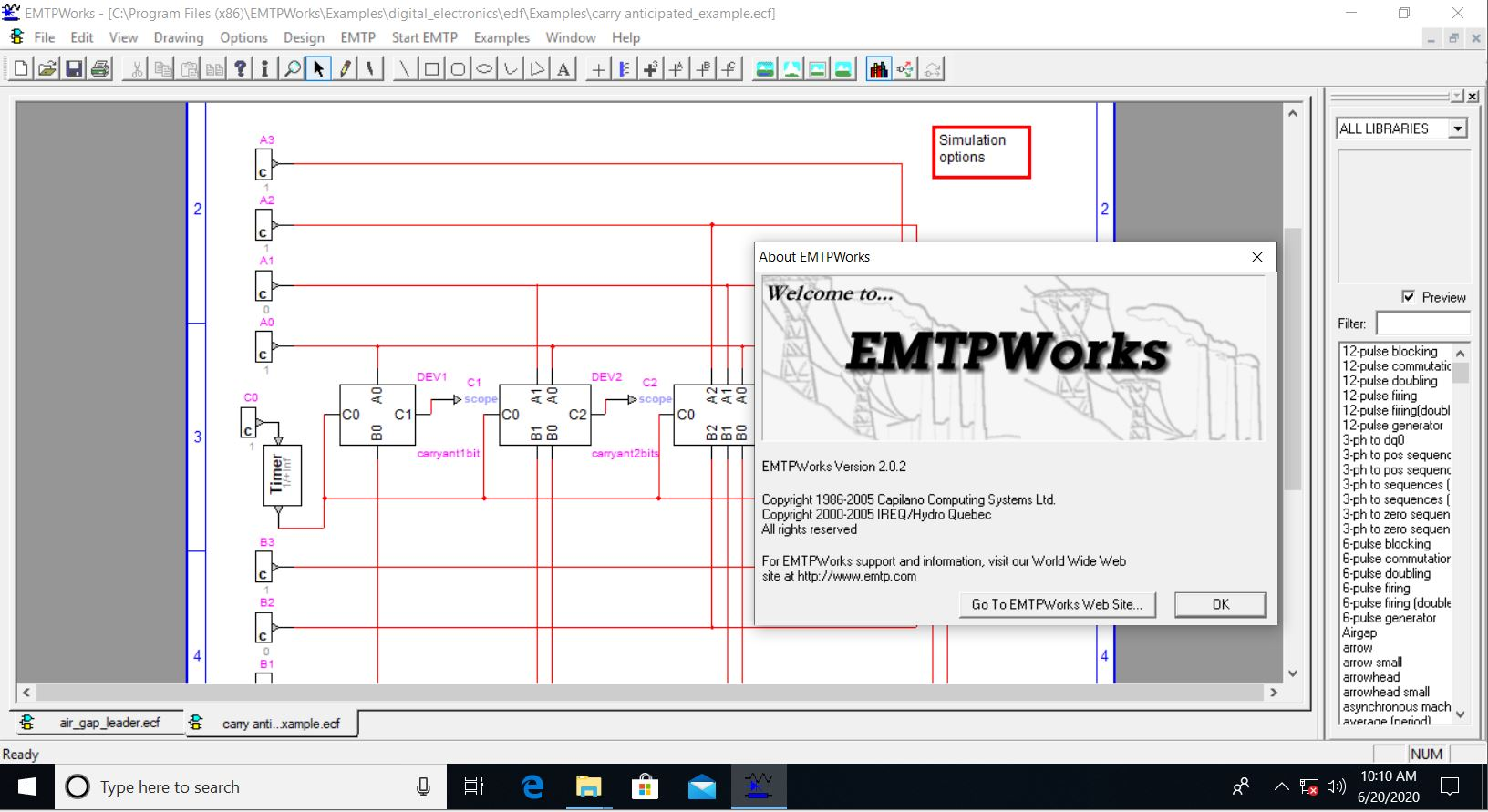 Working with EMTPWorks 2.0.2 full license