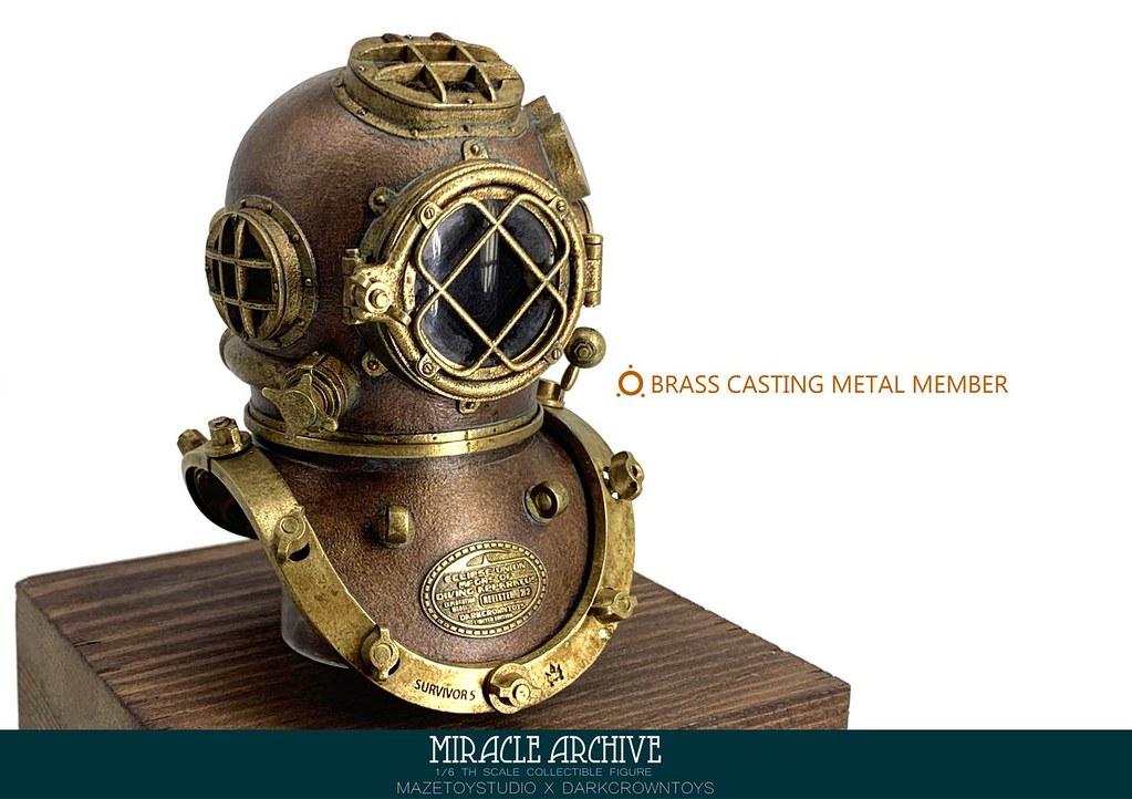 Darkcrown toys × MAZETOY STUDIO《奇蹟檔案(Miracle Archive)》首款 1/6 比例人偶登場!以精湛工藝充分展現蒸氣龐克風的設計魅力