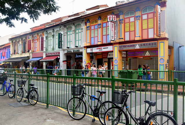 Colourful Street Of Little India, Singapore.