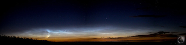 Noctilucent Cloud Panorama 00:07 BST 20/06/20