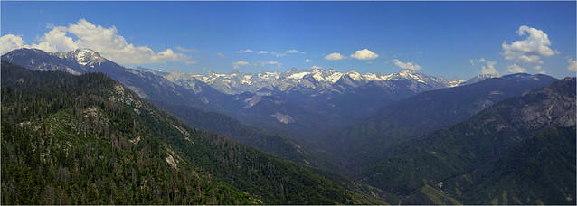 View from Moro Rock - Kings Canyon Nationalpark, California - Panorama