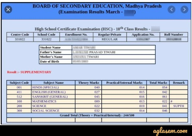 MP Board 10th Result 2020 MP Board 10th Result 2020 (Declared): Check MPBSE Result 2020 at mpresult.nic.in