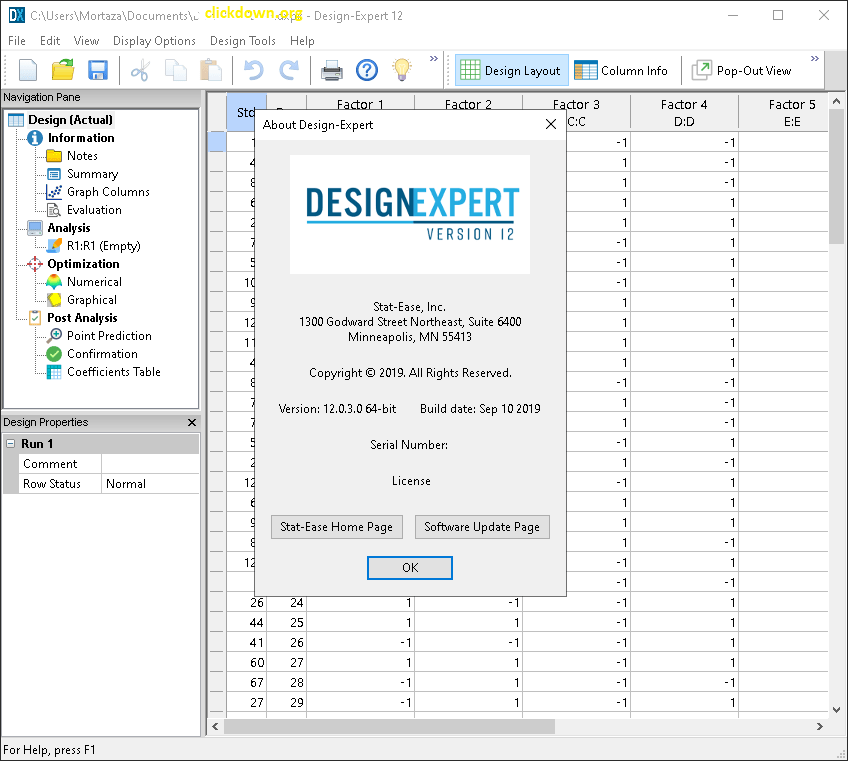 Working with Design-Expert 12.0.3.0 full license