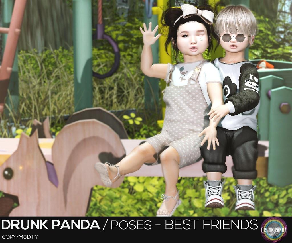 Drunk Panda / Poses – Best Friends