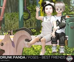 Drunk Panda / Poses - Best Friends