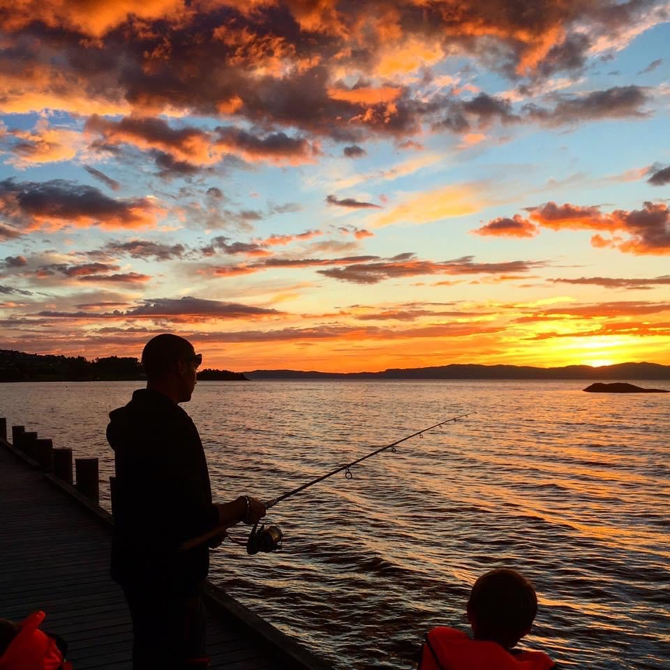 Midnight fisherman