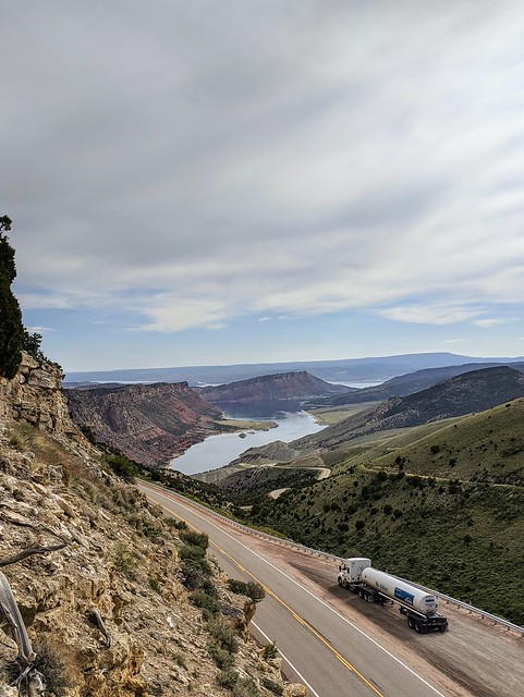 Trucking in The Flaming Gorge