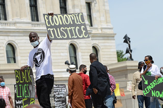Juneteenth reparations rally to demand reparations from the United States government | by Fibonacci Blue