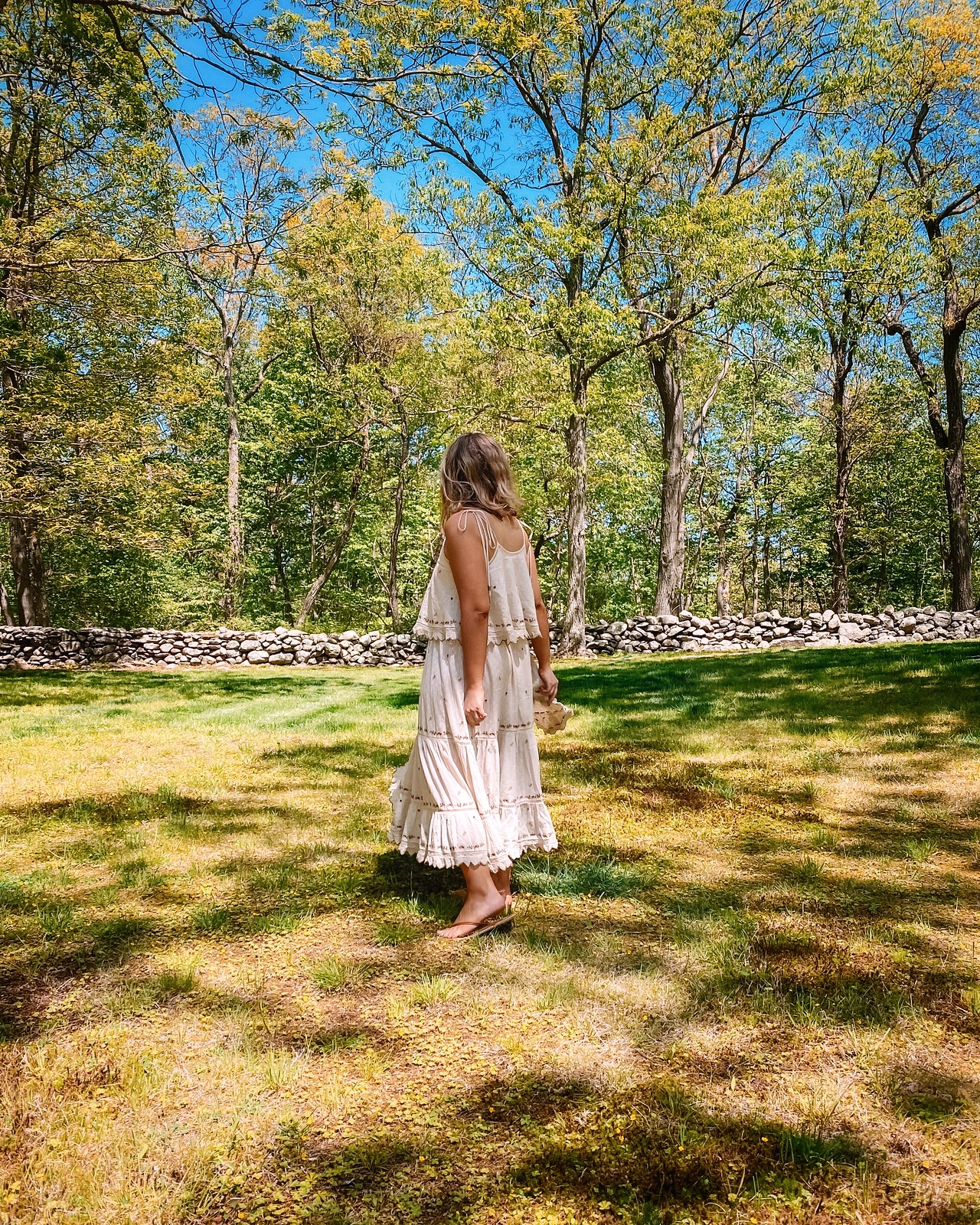 Forest Fairy | Bohemian Boho Off White Midi Dress | Country Girl Summer | The Best Little White Dresses Under $50 for Summer | Summer Outfit Ideas | LWD Little White Dress | Casual Outfit Inspiration