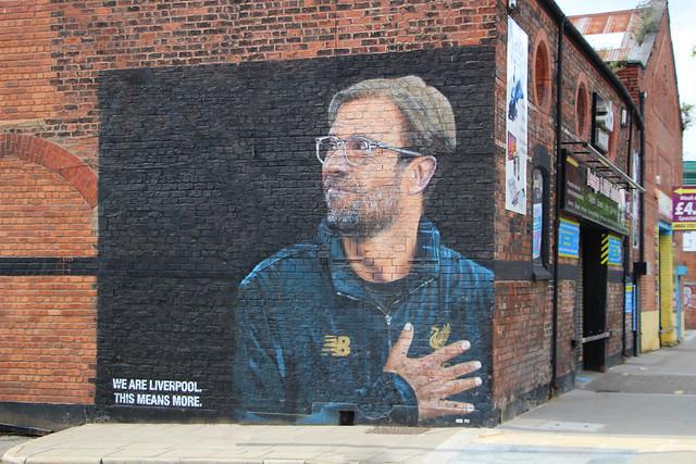 Jurgen Klopp wall mural - Jamaica Street, Liverpool
