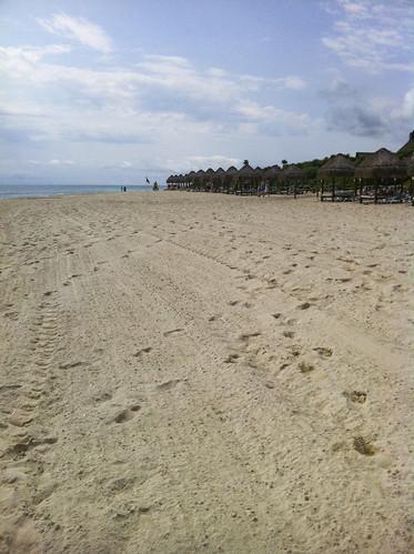 Manicured beach, Valentin Imperial Riviera Maya, Mexico
