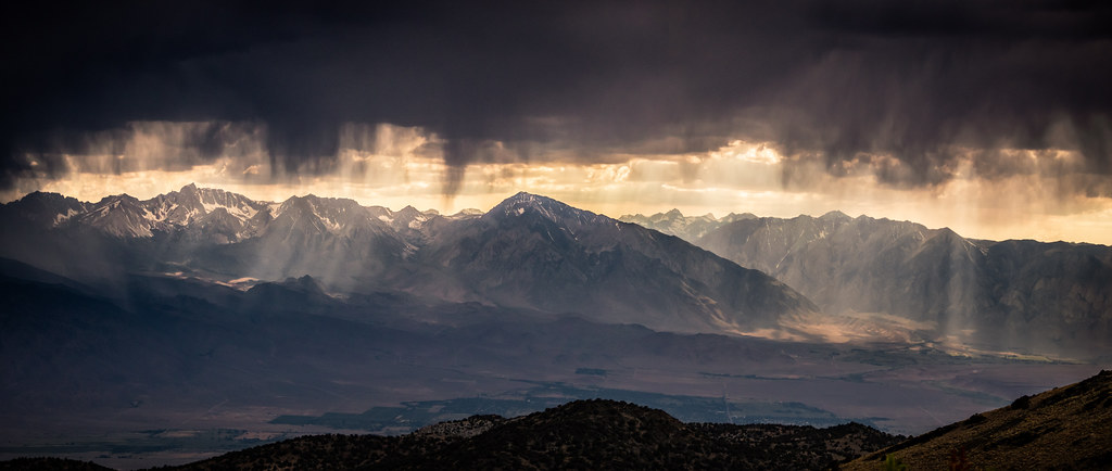 Rainy Day Over Bishop and the Sierra Crest