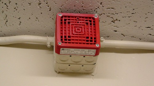 Simplex fire alarm horn at Lee Hall