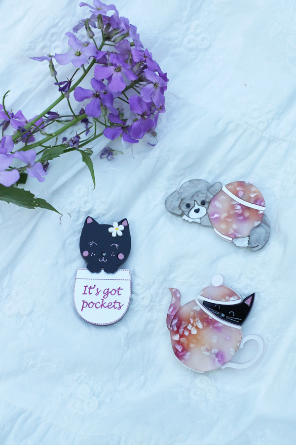 acrylic animal brooches