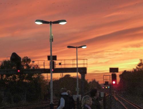 Sunset from Surbiton Station
