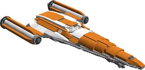 Nexus Force ambassador's space-cruiser - front