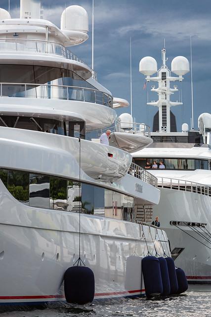 SuperYacht docking Pier 66 Marina