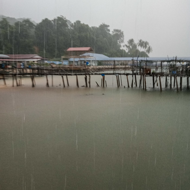 In the rain - Pangkor