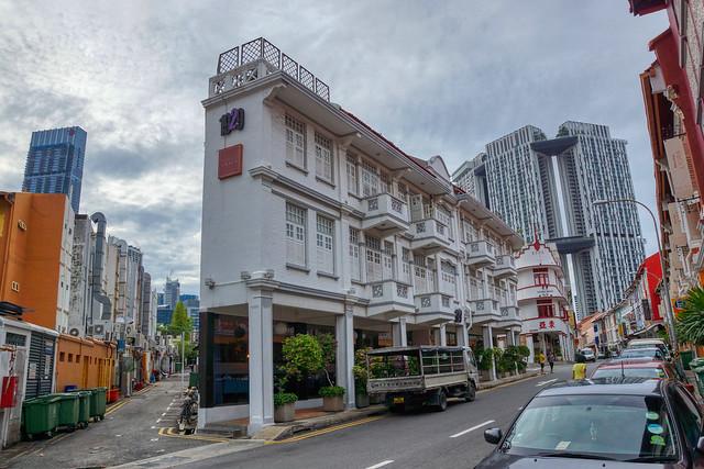 Keong Saik Road in Chinatown in Singapore